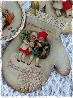 """Новый год 2015 ручной работы. Ярмарка Мастеров - ручная работа Ретро  игрушки"""" Merry Christmas"""". Handmade."""