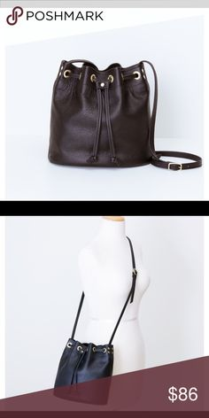 "LANCEL PURSE Gorgeous dark brown all leather bucket handbag. In excellent condition. Adjustable strap. Length 11"", width 13"". LANCEL Bags"