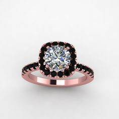black diamond and moissanite ring,style 26RGBLM