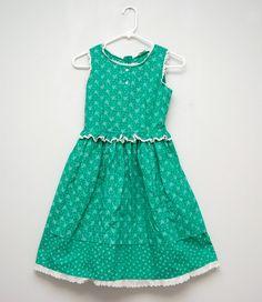 Vintage spring green dress