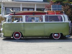 Slammed VW Bus | TheSamba.com :: VW Classifieds - 1968 slammed vw bus with campr kit