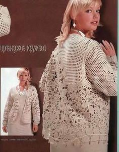 Que bello! Crochet motif sweater, free form ♥LCT♥ with diagrams, advanced level. Loving it! I'm a visual crocheter, and this to me is easy ♥♥♥♥