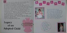 Idea for adoption lifebook