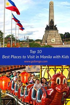 The Filipino culture is very family oriented. They also love to have fun. If you're visiting the Philippine capital with your family, here's a guide to the best places to visit in Manila with kids. Vietnam Travel, Thailand Travel, Asia Travel, Travel With Kids, Family Travel, Inexpensive Family Vacations, Round The World Trip, Filipino Culture, Family Vacation Destinations