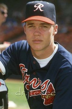 Oh my gosh, I had a crush on him! Lol. RVA misses you Braves! | The best of the best. Chipper Jones | Richmond Braves.