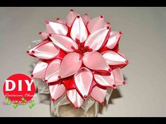 Master-class Kanzashi. DIY. Needlework. Scrunchy Kanzashi. Flowers Kanza...