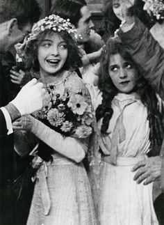 Mary Pickford and Lillian Gish in My Baby, a Biograph short, 1912.