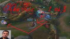 Kha`Zix from left alone against 3 players,see here what happened.This is League of Legends Patch 7.1