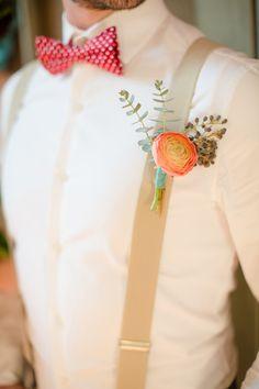 A pretty little detail.  Peach, Aqua, White & Red Color Palette - The Bride's Cafe  Katelyn James Photography | via The Brides Cafe
