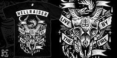 """""""HELLRAISER"""" t-shirt design by Ralph Espiritu"""