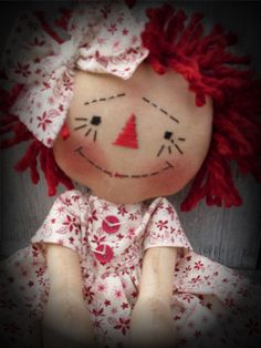 """Primitive Raggedy Olde Vintage Annie INSTANT by Crazyforelves, $3.99....(such a cute, """"raggedy personality""""!)...."""