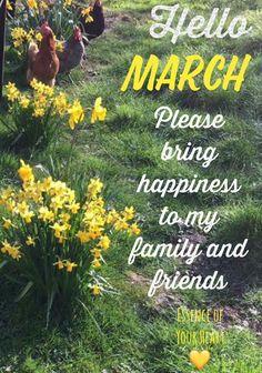 Hello March  My birthday month is when my favorite season begins