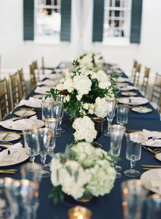 This Classic Navy + Gold Charleston Wedding from Virgil Bunao features a chandelier-adorned tent.