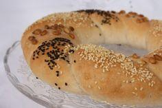 Gluténmentes magvas koszorú Bagel, Gluten Free Recipes, Free Food, Bread, Gluten Free Menu, Breads, Sandwich Loaf