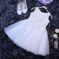 Fashion High Quality Flower Girl Dresses,Beautiful White Flower