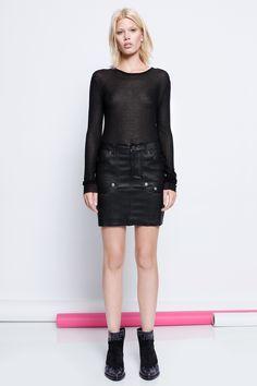 skirt for woman jevron deluxe black Zadig&Voltaire