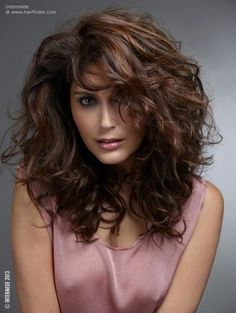 Awesome cut for thick curly hair