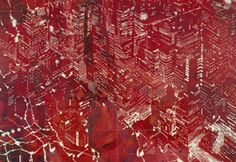 Jon Cattapan, 1998-2001,  Red system no.3 (The third deadly system) (detail),  oil on canvas, 198 x 167.5cm