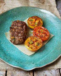Grilled Mini Meat Loaves -  Marcia Kiesel's sister Susie created this recipe one day when she was craving meat loaf but didn't want to turn on the oven. The delicious individual meat loaves—made with just six ingredients and stuffed with cubes of fresh mozzarella that become warm and gooey—cook directly on the grill for less than 10 minutes.