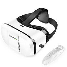 Gafas VR (Realidad Virtual) con Mando, Pasonomi Gafas de VR Headset 3D VR (Realidad Virtual) Box - https://realidadvirtual360vr.com/producto/gafas-vr-con-mando-pasonomi-gafas-de-realidad-virtual-headset-3d-vr-box-con-controlador-compatible-con-iphone-samsung-lg-htc-google-xiaomi-huawei-y-otros-android-smartphones/ #RealidadVirtual #VirtualReaity #VR #360 #RealidadVirtualInmersiva
