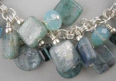 Blue Swarovski Jewelry Crystals Blue Kyanite by Stoneberri on Etsy, $100.00