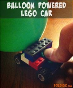 Balloon Powered Lego Car - Give it a blow and let it GO!