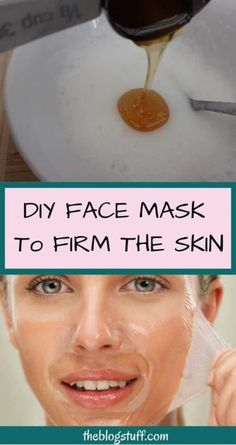 DIY face mask recipe to firm the skin naturally. Use these facial masks every week to prevent and delay s DIY face mask recipe to firm the skin naturally. Use these facial masks every week to prevent and delay sagging skin. Homemade Facial Mask, Homemade Facials, Tightening Face Mask, Natural Facial, Natural Face Masks, Natural Skin, Natural Beauty, Sagging Skin, Facial Masks