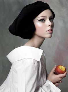 Coco Rocha by Steven Meisel - I ♥ this blouse.