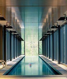 Indoor infinity pool, Farrar Residence in Utah by Bohlin Cywinski Jackson _