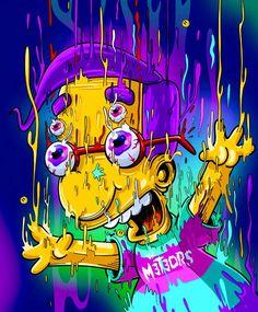 Melting Milhouse, The Simpsons Graffiti Wallpaper, Trippy Wallpaper, Cartoon Wallpaper, Simpsons Drawings, Simpsons Art, Image Simpson, Bart Simpson, Art Hippie, Simpson Wallpaper Iphone