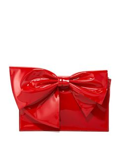 Lacca Bow Clutch Bag, Red by Valentino at Neiman Marcus.