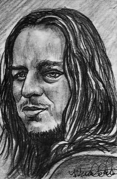ACEO  GAME OF THRONES JAGEN H'GHAR Original Portrait Sketch Card by MIRACLE  #Miniature