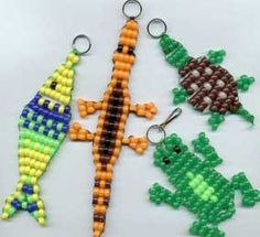 i remember these from when i was a kid i made so many!  Free Bead buddy Craft Patterns   For more plastic beady critters look