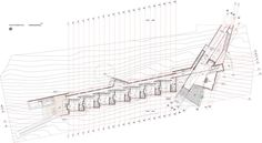 Completed in 2012 in Panguipulli, Chile. Images by Sebastián Sepúlveda. The idea of designing a project in the south lead us to imagine the great roofs of the Colona warehouses. Revit Architecture, Architecture Student, Concept Architecture, Contemporary Architecture, Interior Architecture, Chile, Concept Diagram, Construction Design, Detailed Drawings