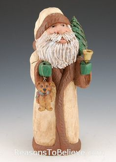 Woodland Greetings | Santa Claus Figurines and Hand Carved Wooden Santas