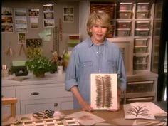 Martha Stewart: crafts, stationery with pressed flowers