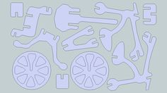 scroll saw bicycle puzzle Large preview of 3D Model of BICICLETA