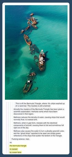 Explaining the Bermuda Triangle.