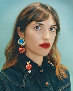 Photographed by Tyrone Lebon for Bimba y Lola. Neither Jeanne Damas nor Elizabeth are intimidated by a big earring.