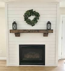 Whitewashed Brick And Shiplap Fireplace With Tv Over Mantle Google Search Living Room Mantle Home Fireplace Fireplace Makeover