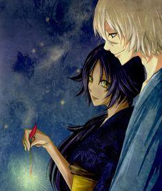 Bleach Fan Art- yoruichi and Urahara