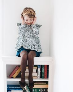 """""""""""Hmm. I think I want maiden braids today, Mom."""" Yes, please. Marie Laure aka @lecarrouselparis she is so excited about her clothes from France! """""""