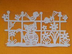 Velikonoční vystřihovánka - Zvířátka u plotu |
