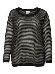 STRIKKET PULLOVER, Black, list