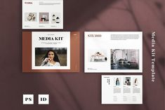 Corporate Brochure, Business Brochure, Brand Guidelines Template, Photoshop Fonts, Media Kit Template, Press Kit, Typography, Lettering, Slide Design