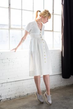 Ss16, White Dress, Spring, Clothing, Shirts, Accessories, Collection, Dresses, Fashion