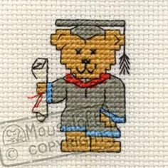 "Mouseloft Stitchlet Cross Stitch Card Kit ""Graduation "" M...…"