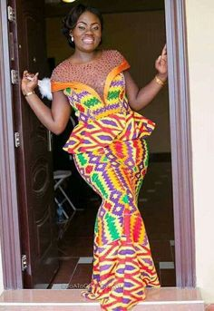 Ghanaian's Kente Styles Slay For Days African Print Dresses, African Print Fashion, Africa Fashion, African Fashion Dresses, African Dress, Fashion Outfits, African Prints, African Attire, African Wear