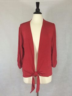 CHICO'S NEW $99 TRAVELERS CLASSIC Tie-Front Jacket 3 16/18 Red Womens Top NWT #Chicos #Jacket #EveningOccasion