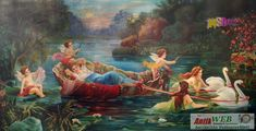Varázslatos csónakázás, Hermann Halbweis, német festő alkotása 19 Painting, Art, Art Background, Painting Art, Kunst, Paintings, Performing Arts, Painted Canvas, Drawings